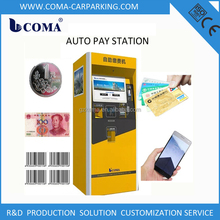Automatic self service bill payment machine payment kiosk for parking lot