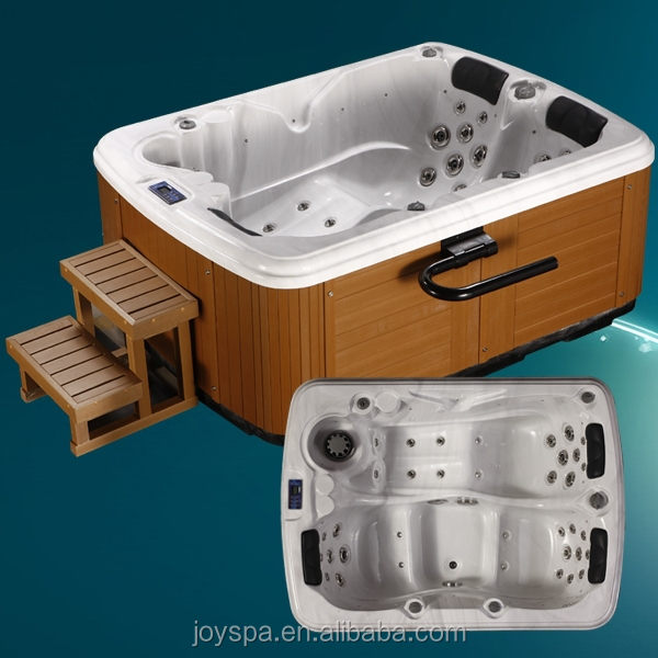 Whirlpool freestanding 2 person outdoor spa bathtub