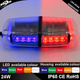 24W Red and blue LED police warning flashing mini light bar