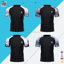 2017 Latest shirt designs wholesale sportswear men t-shirt printing machine compression tight shirts sublimation printed tshirt