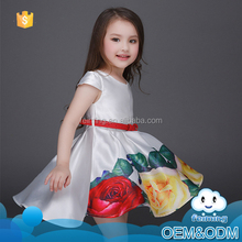 New model latest frocks designs soft fabric kids wear big flower fancy baby girl summer dresses for lace wedding dress patterns