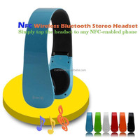 Hot Wireless Blue Bluetooth Stereo Headset with NFC for samsung, nokia, HTC,Iphone 3gs/4/4s/5 ,Laptops,desktops