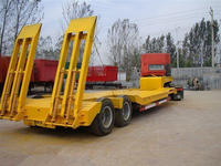 3 axles heavy duty low bed trailers/lowbed semi trailer