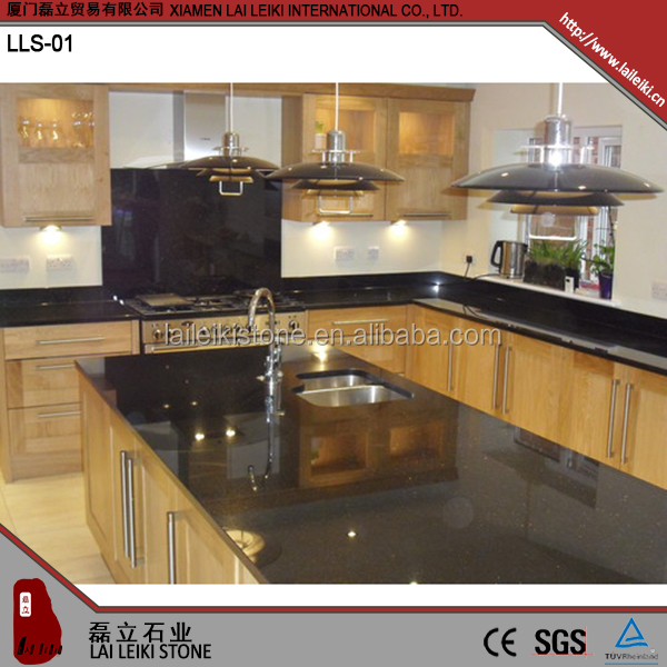 Chinese black Galaxy good compressive strength Granite Countertop