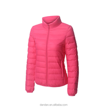 Woman clothing winter 2018 goose down jackets with fancy colour