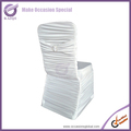 white ruched spandex lycra chiavari chair cover for weddings