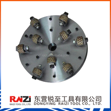 RAIZI coating removal and aggregate exposed 6 head/rollers rotary bush hammer for concrete
