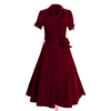 Hot sale fashion red women dress , latest short sleeve Cocktail Dresses