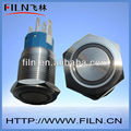 IP 65 LED Metal 19mm push button switch stainless steel