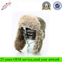Russian Earflap Winter Faux Fur Ski Corduroy Custom Wholesale Trapper Hat