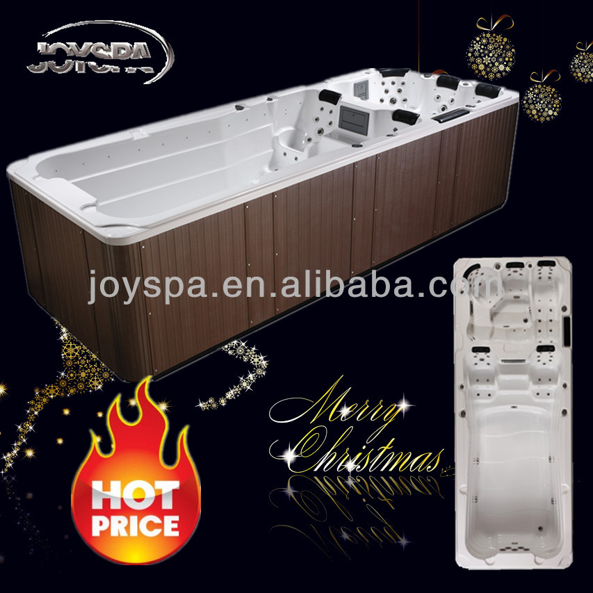 2014 Special Offer 59 therapy jets luxury 6 meter CE swim spa
