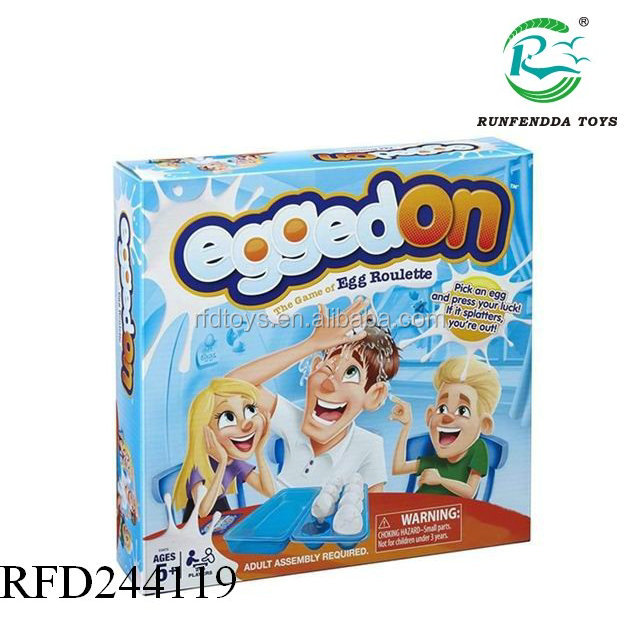 Hot selling indoor tricky toy for kids egg roulette