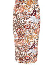Pretty Floral New Fashion Pencil Skirt for Ladies