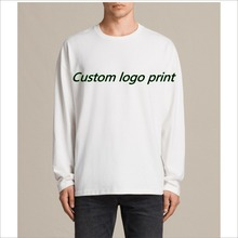 Free Sample Design Your Own Logo 150,180,170 GSM Cotton Custom Long Sleeve T Shirt