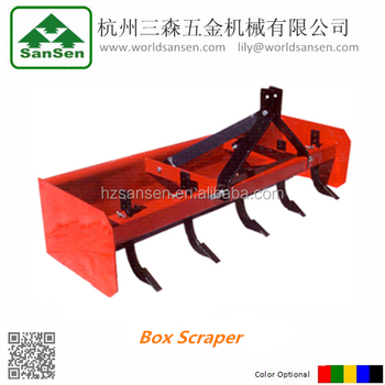 Tractor 3 point Box Scraper for tractors, tractors scraper blade