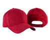 Wholesale Customized Suede Red Baseball Golf Cap Golf