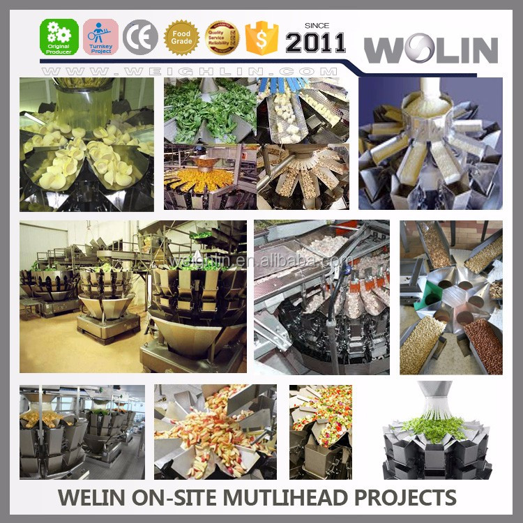 2017 Welin Can-Bus Modular Actuator intelligent computerized multihead weigher for frozen food