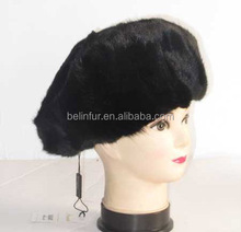 Popular Russian Style Women Winter Real Fur Mink Hat