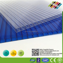 4mm 6mm 8mm 10mm 12mm 2 Layers Polycarbonate Hollow Sheet Sun Sheet Plastic Building Material 10 Years Gurantee With Uv Finish