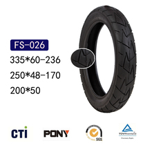 200X50 Stroller Wheel Tyre Baby Carriage Buggy Inflation-free Solid Tire