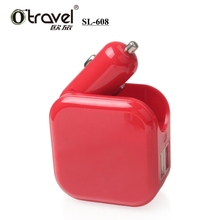OTRAVEL SL-608 Customized Mobile Phone Charger 2 in 1 car charger 5V 1A/2.1A ,2 USB car charger