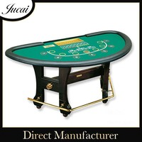 Half round game poker table