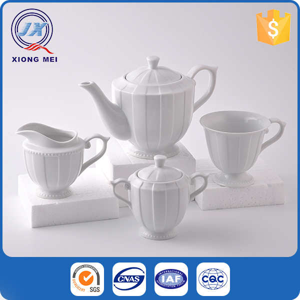 Eco-friendly porcelain durable product classic coffee and tea set