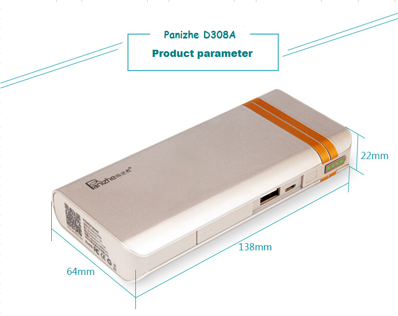 Factory direct sale supply mobile phone accessories OEM original portable power bank 10000mah
