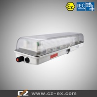 High quality IECEx&ATEX Certified Explosion Proof Zone 1,2,21,22 2x14W/2X18W/2X28W/2X36W Fluorescent Lighting Fixture