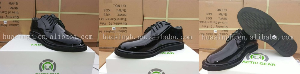 non marking rubber sole matt leather uniform police and army officer shoes