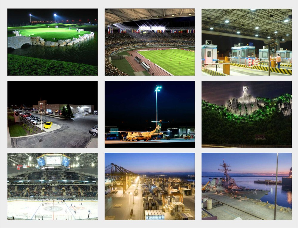 Professional stadium sports led lighting for high lumens 500 watt led flood light