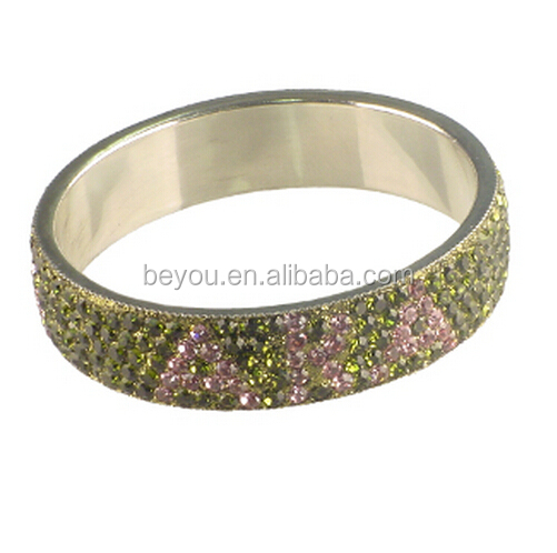 rhinestone Rhinestone Bangle Bracelet for Alpha Kapp Alpha pink and green bangle