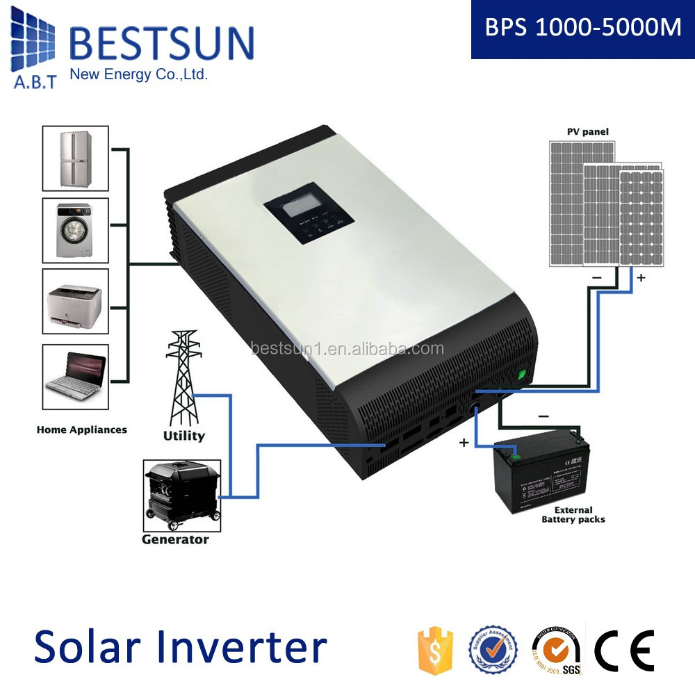 BESTSUN 1200VA 2400VA dc to ac modified sine wave pwm controller solar power inverter