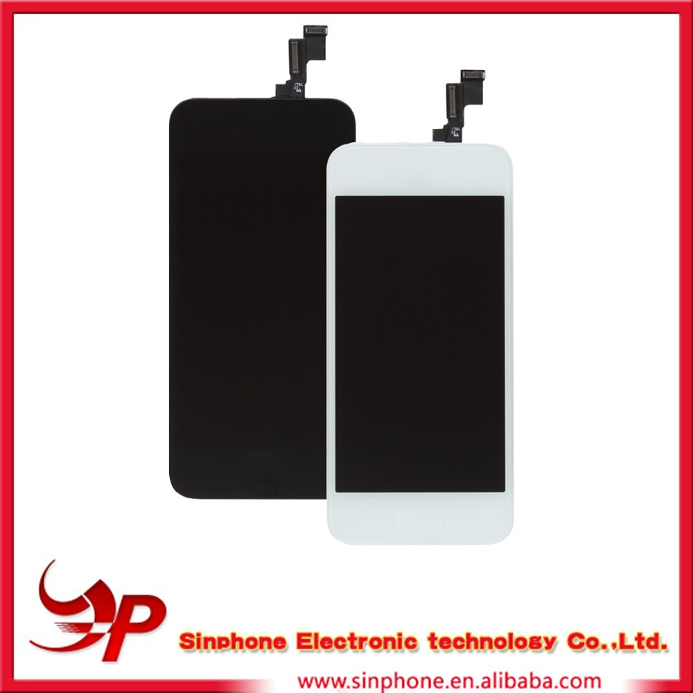 LCD screen display with digitizer assembly for apple iphone 5s spare parts