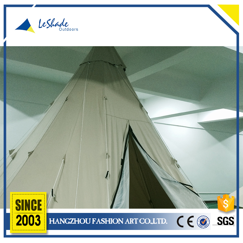 High-performance breathable large family camping teepee tent
