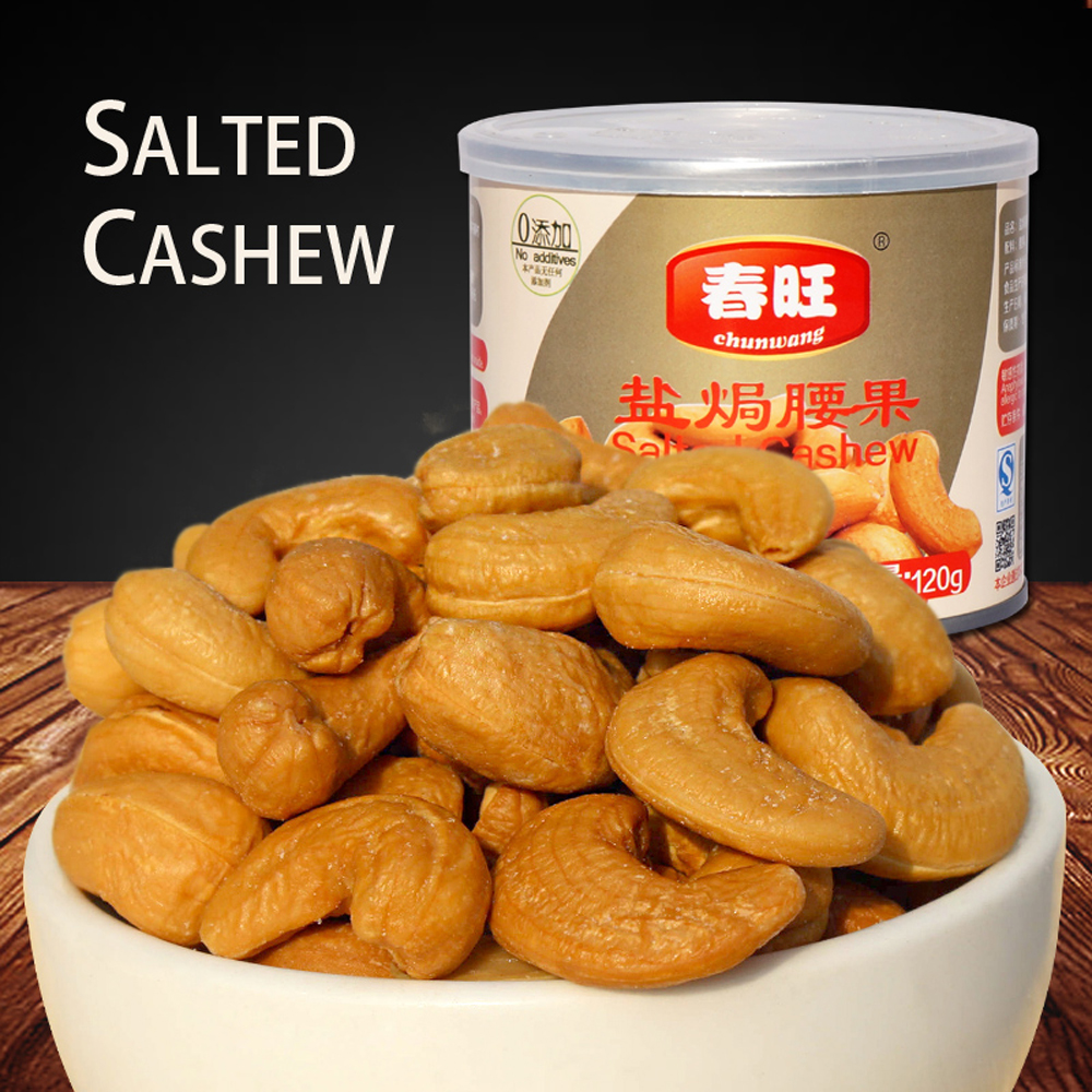 China wholesale canned food, roasted and salted cashew nuts