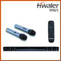 high quality KTV karaok soundbar speaker bluetooth speaker with wireless two-way microphone