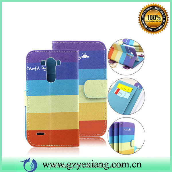 Fashion Style Wallet Leather Phone Case For LG G3 D855 Cover