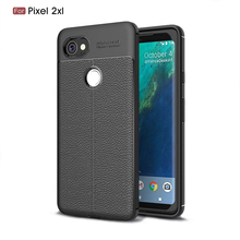 New Smartphone Litchi Grain Flexible Soft TPU Back Cover Case For Google Pixel 2 XL