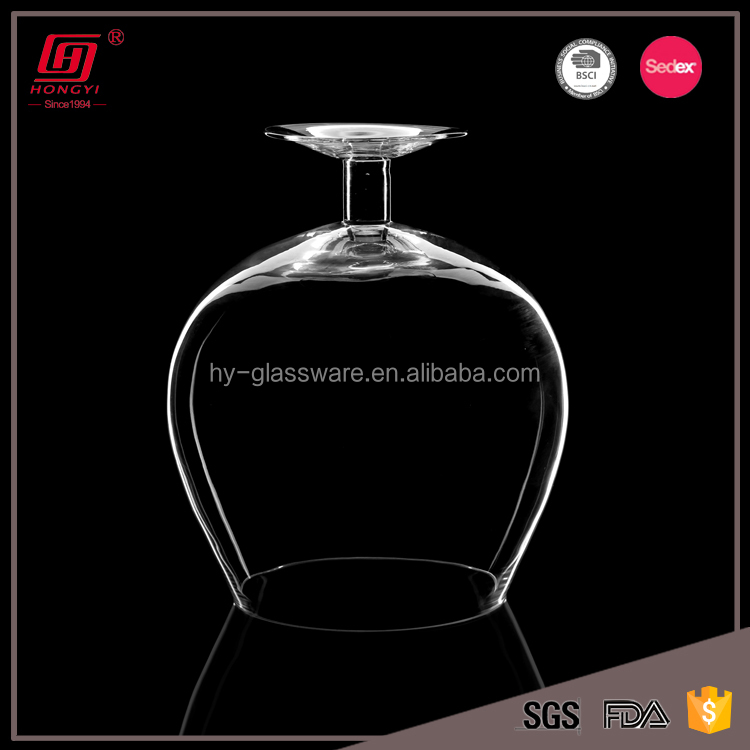 Wholesale handmade lead free fancy giant wine glass vase for wedding table centerpieces