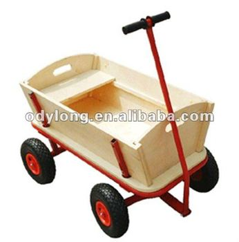 Hot sell wooden cart be loved by children