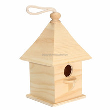 Caoxian Bojia Popular wooden bird house,Cheap outdoor hanging wooden birds