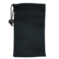 Eco Lot Black Microfiber Bags For Sunglasses