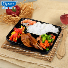 colorful food grade plastic disposable 4-compartment containers