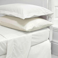 Wholesale White Color 200 Thread Count Hotel Bed Sheet 100% Cotton Twin/Full/Queen/king Size