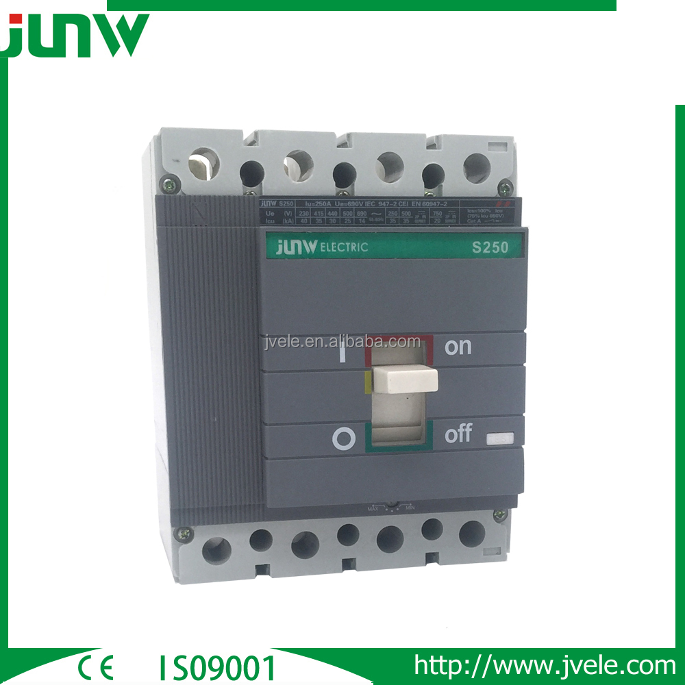 CHINA Supplier For 3P 4P ISOMAX S3 250A 690V Adjustable Molded Case Circuit Breaker MCCB