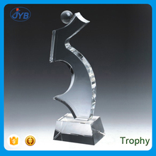 Wholesale Cheap Custom 3D Crystal NO.5 Shape Cube Award Trophy
