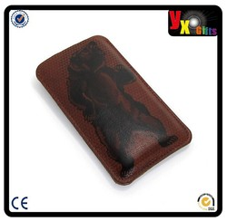 Leather Smartphone case - Grizzly Bear/2 china import items decor for home
