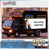 P10 Advertising Truck Led Mobile Display Sunrise Led /outdoor Mobile Led Trailer /truck Display P6 P8 P10 Mobile