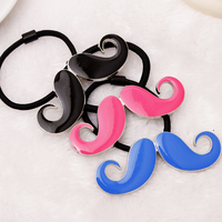 Personality Punk Style Multicolor Mustache Beard Elastic Hair Bands Cute Rubber Hair Accessories